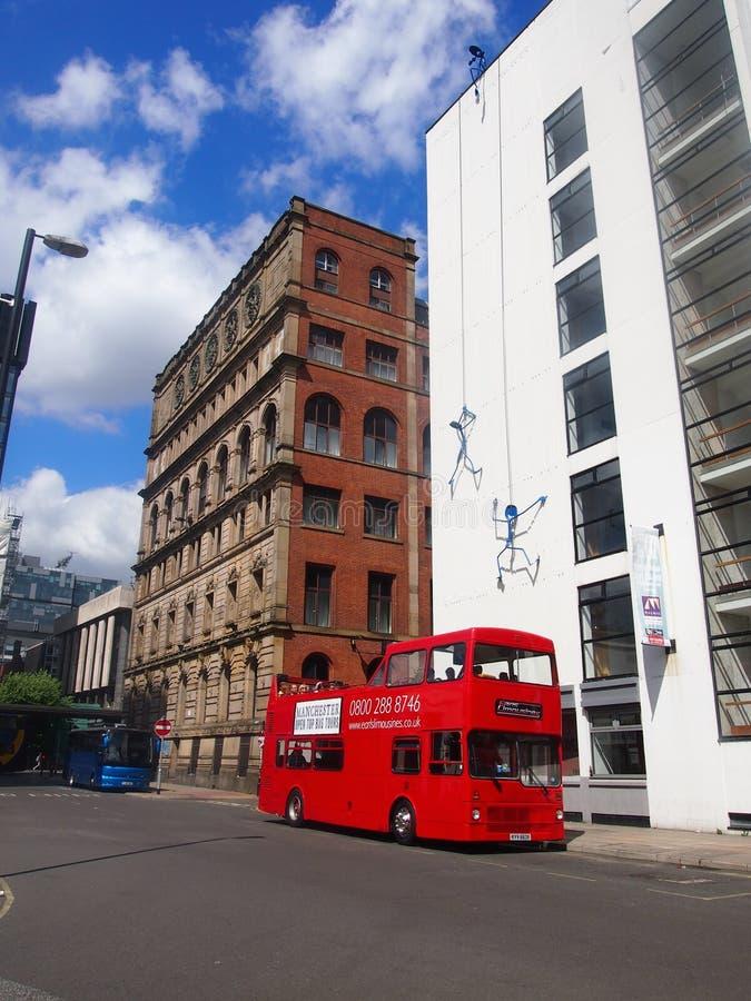 Excursões abertas do ônibus de Manchester, Reino Unido fotos de stock royalty free