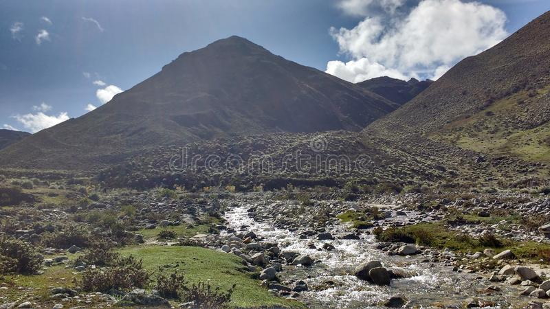 excursión a través de los Andes fotografía de archivo