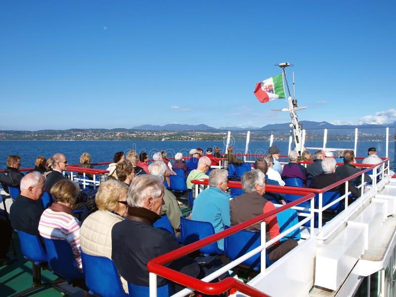 Excursie langs meer Garda stock fotografie