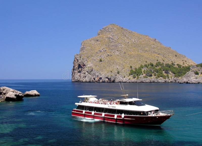Download Excursion boat stock photo. Image of mallorca, coast, away - 171548