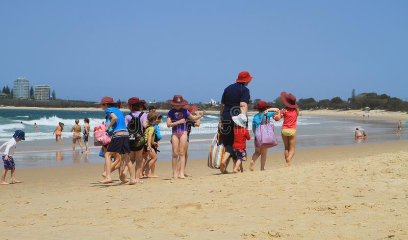 Excursion de classe, la voie australienne image stock