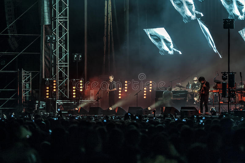 Excursion de concert de Radiohead 2012 images stock
