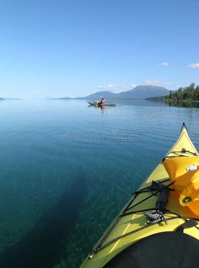 Excursion de kayak de mer image libre de droits
