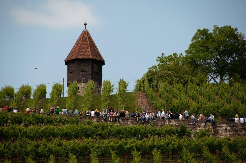 Excursion de vin dans le rkheim de ¼ d'Obertà près de Stuttgart, Allemagne photo stock
