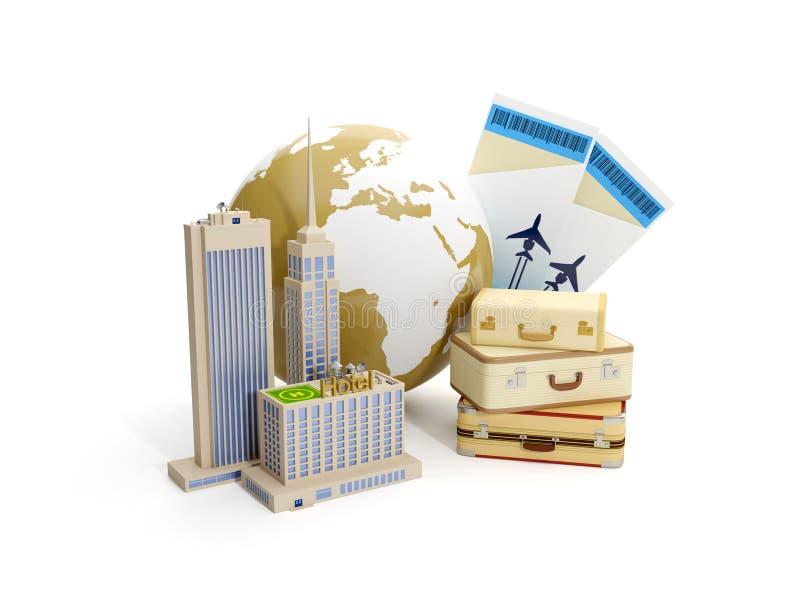 Excursion du monde illustration de vecteur