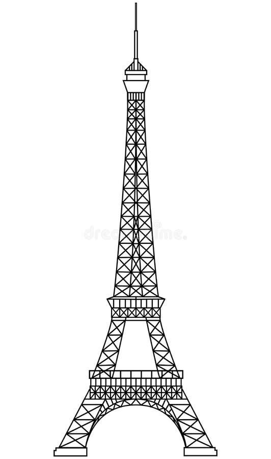 Excursion Eiffel illustration stock