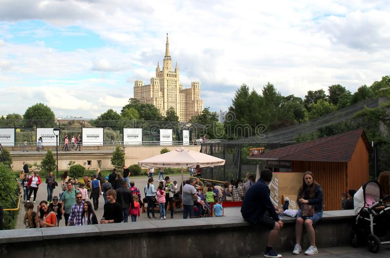 Excursion to the Moscow Zoo. stock photography