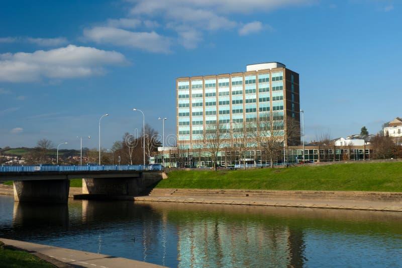 exe Exeter bieżąca rzeka zdjęcie royalty free