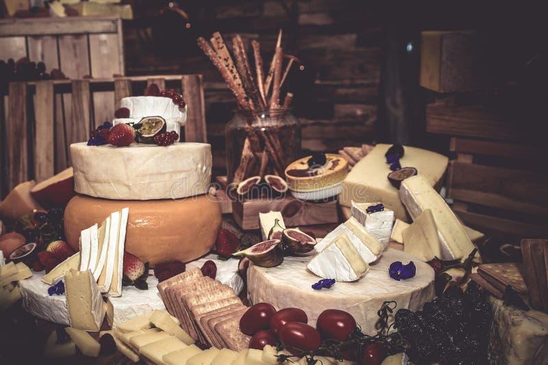 Exebition do queijo fotografia de stock