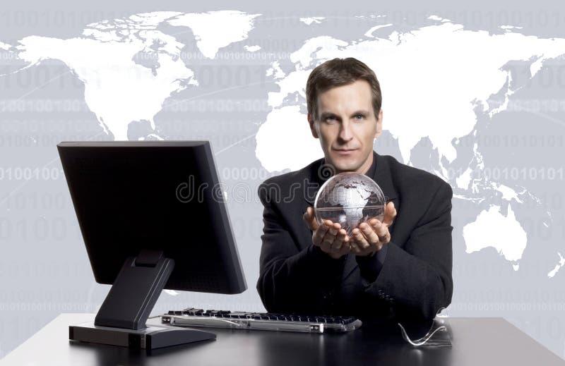 Exec do negócio global foto de stock