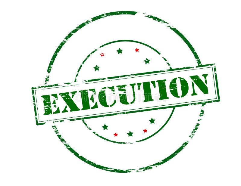 execução ilustração royalty free