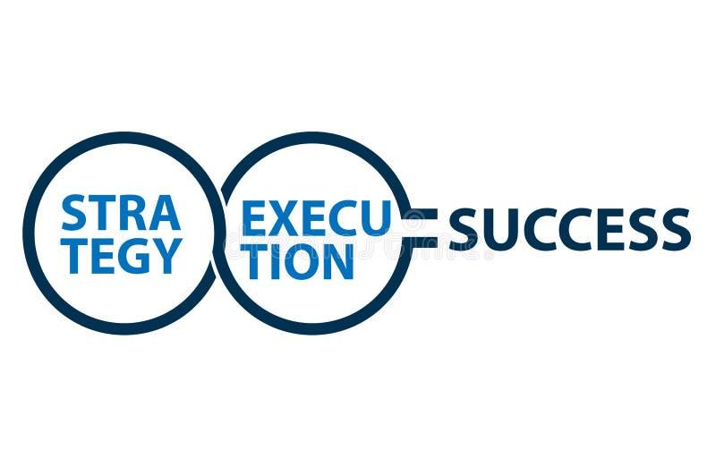 Execução da estratégia da ilustração do conceito ao sucesso ilustração do vetor