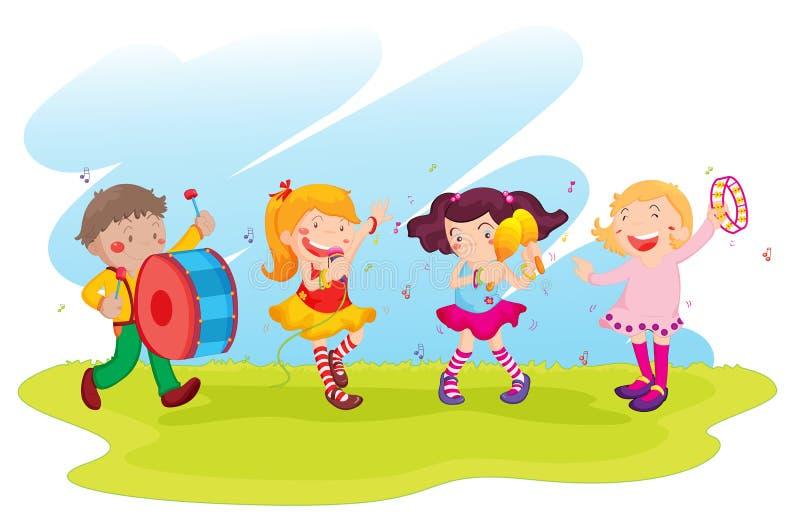 Execução das crianças ilustração stock