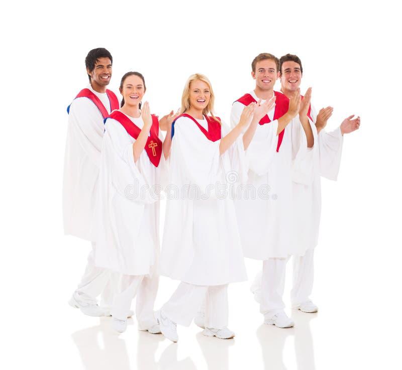 Execução do coro da igreja imagens de stock