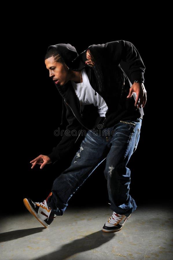 Execução do dançarino de Hip Hop foto de stock royalty free