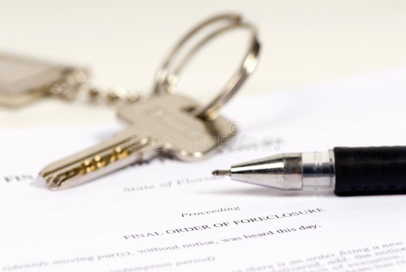 Execução duma hipoteca imagem de stock royalty free