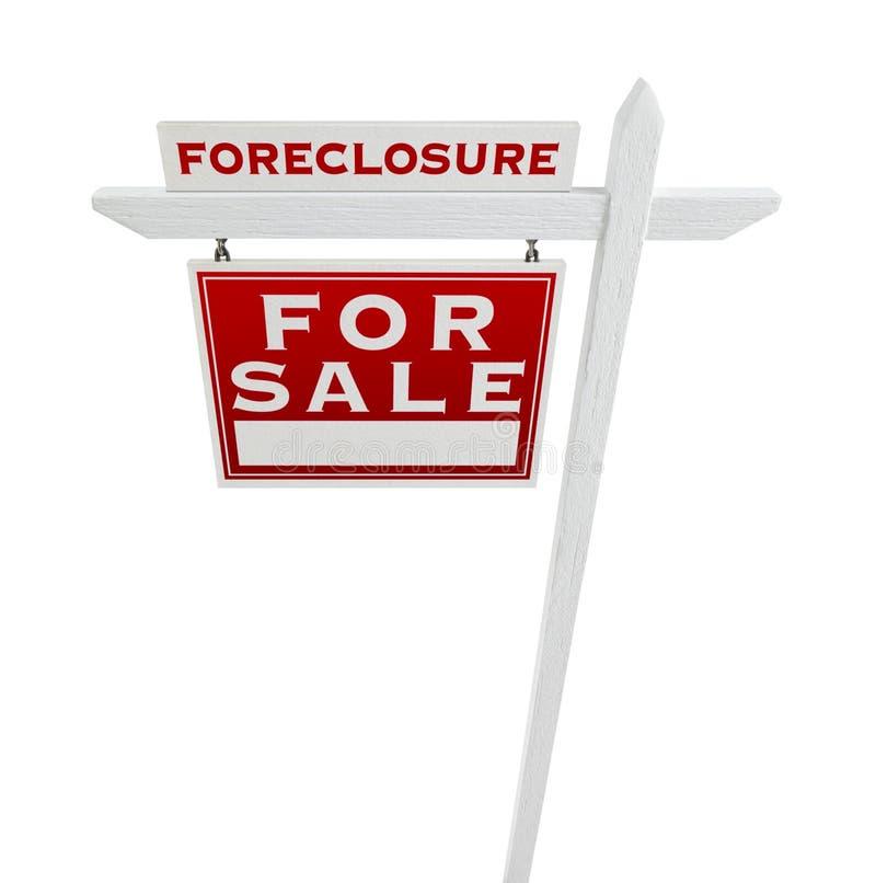 Execução duma hipoteca esquerda do revestimento vendida para o sinal de Real Estate da venda isolado imagem de stock royalty free