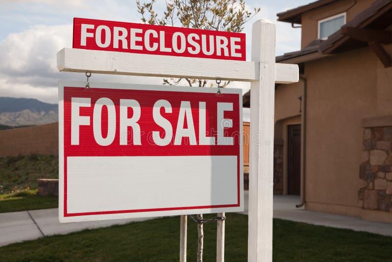 Execução duma hipoteca para o sinal dos bens imobiliários da venda foto de stock
