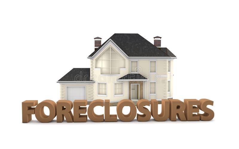 Execuções duma hipoteca de Real Estate ilustração stock