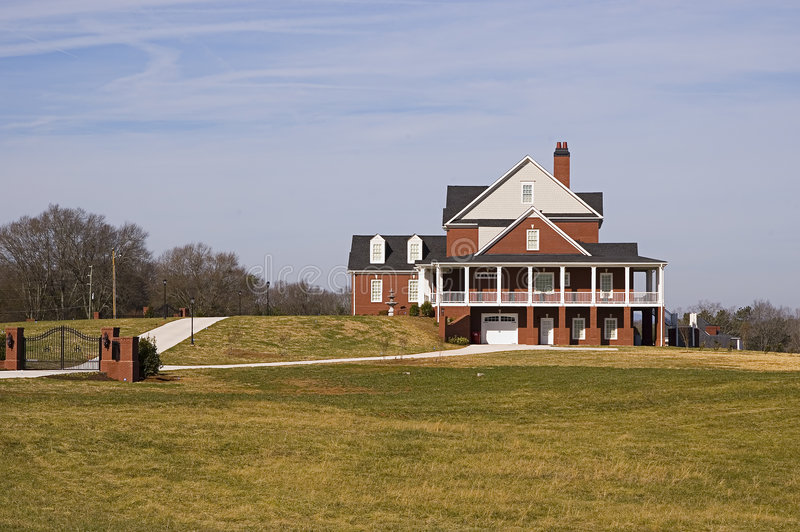 Execuative House on a Hill stock image