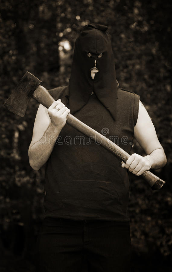 Download Executioner with axe stock image. Image of details, evilness - 15399901