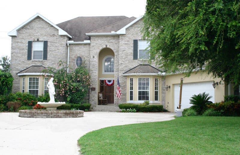 Executive Brick Home stock image