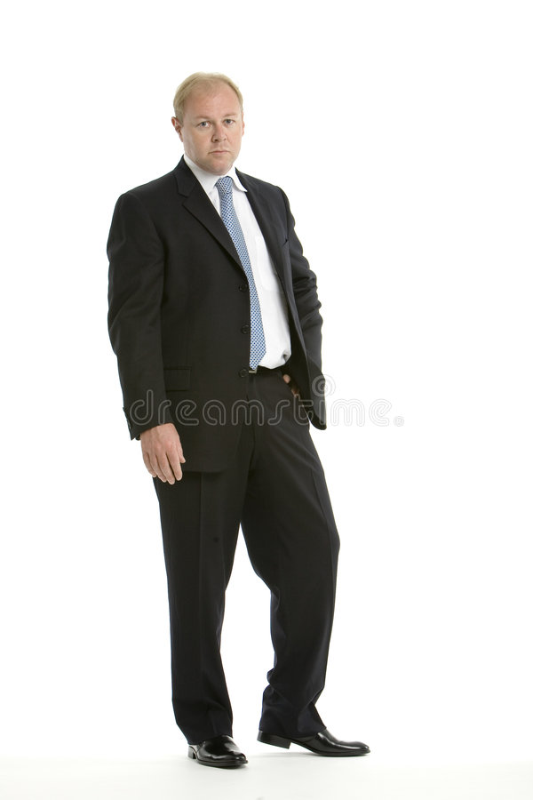 Executive in a business suit stock photo