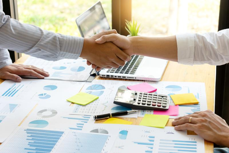 executive businessman hand shake royalty free stock image