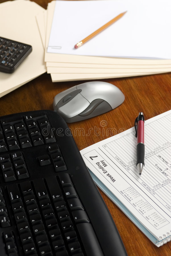 Executive Desk With Schedule Stock Image