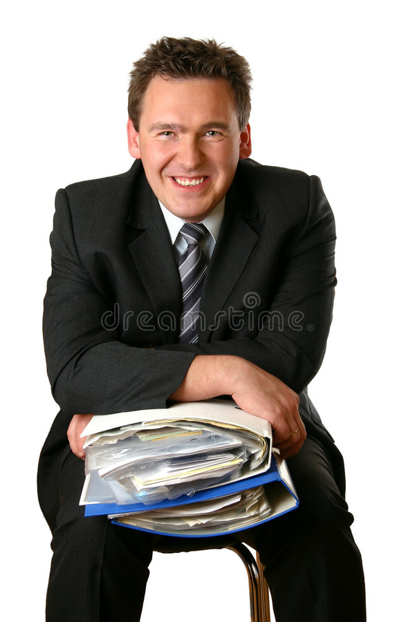 Download Executive And His Documents Stock Photo - Image of adult, smile: 111840