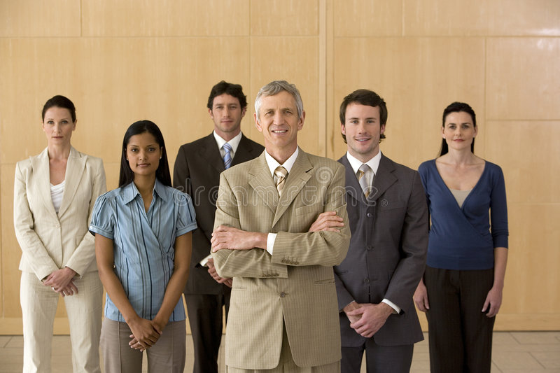 Executive With His Team Stock Photography
