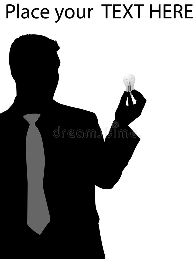 Download Executive Holding Electric Bulb Stock Illustration - Image: 7241999