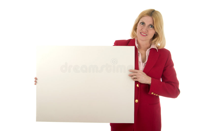 Download Executive Holds Blank Sign stock photo. Image of displaying - 2324588