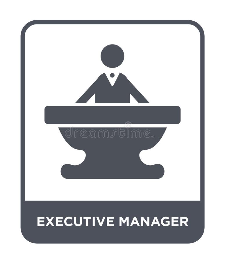 Executive manager icon in trendy design style. executive manager icon isolated on white background. executive manager vector icon. Simple and modern flat symbol royalty free illustration