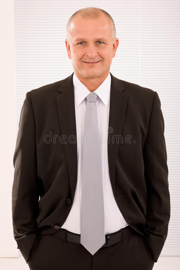 Executive mature businessman professional suit royalty free stock photography