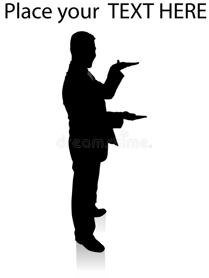 Download Executive Measuring With Hands Stock Illustration - Image: 7242012