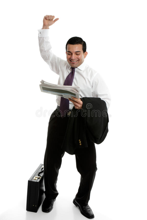 Executive  Punching Air Success Stock Photo