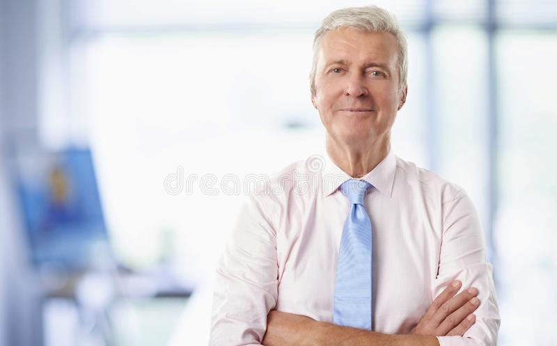 Executive senior businessman stock image