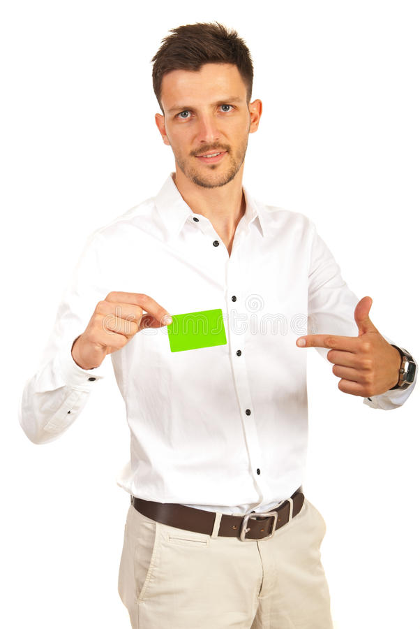 Download Executive Showing To Green Card Stock Image - Image: 31867657