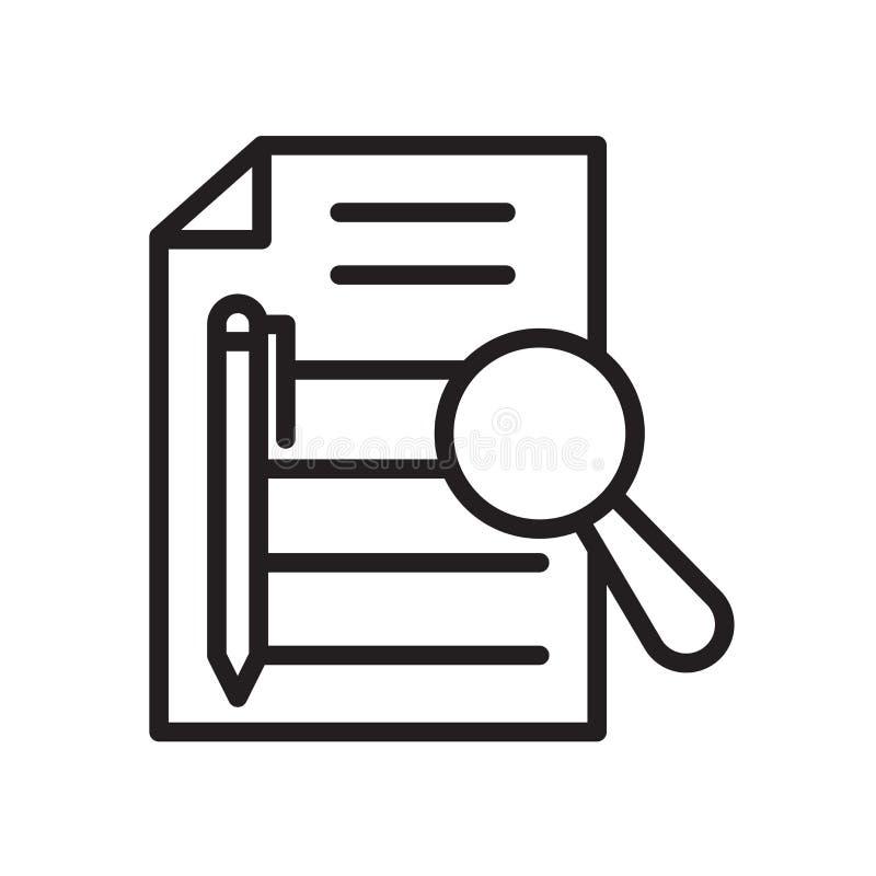 Free Executive Summary Icon Isolated On White Background Stock Photos - 133860553