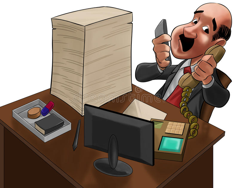 The executive too much busy stock illustration
