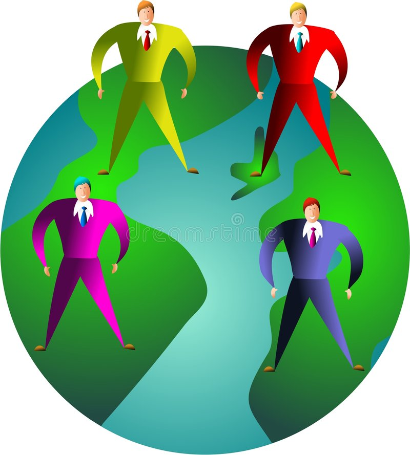 executive värld stock illustrationer