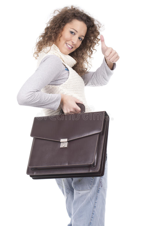 Download Executive Woman Holding A Briefcase Stock Photo - Image: 17404588
