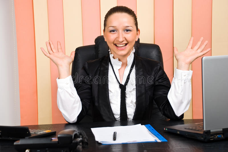 Download Executive Woman With Success In Business Stock Photo - Image of consultant, cheering: 14888616