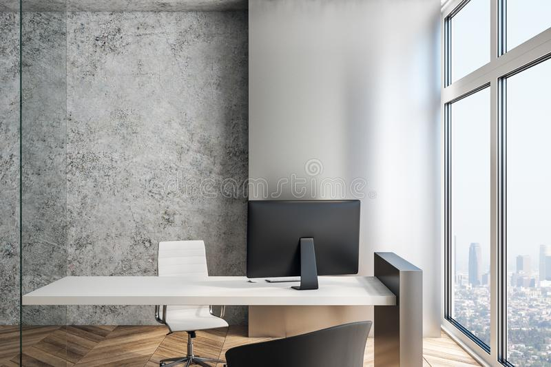 Executive workplace in a modern interior. royalty free illustration