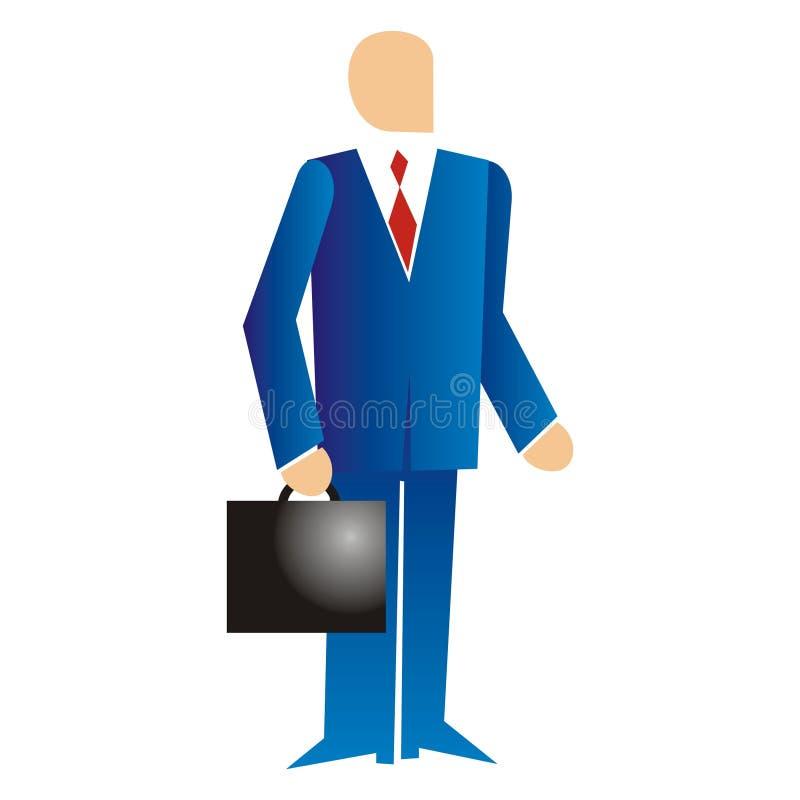 Executivmann mit Koffer lizenzfreie abbildung