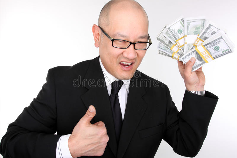 Executivo ávido fotografia de stock royalty free