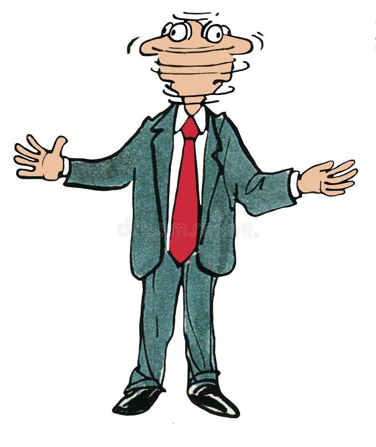 Executivo ansioso ilustração royalty free