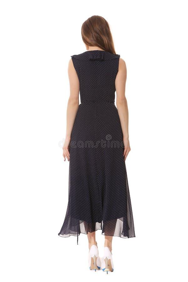Executivo de mulher que levanta do laço formal do fblack do verão do desenhista em dres sem mangas foto de stock royalty free