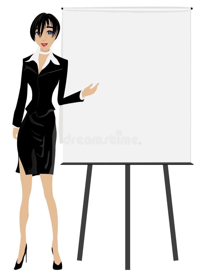 Executivo de vendas. ilustração stock